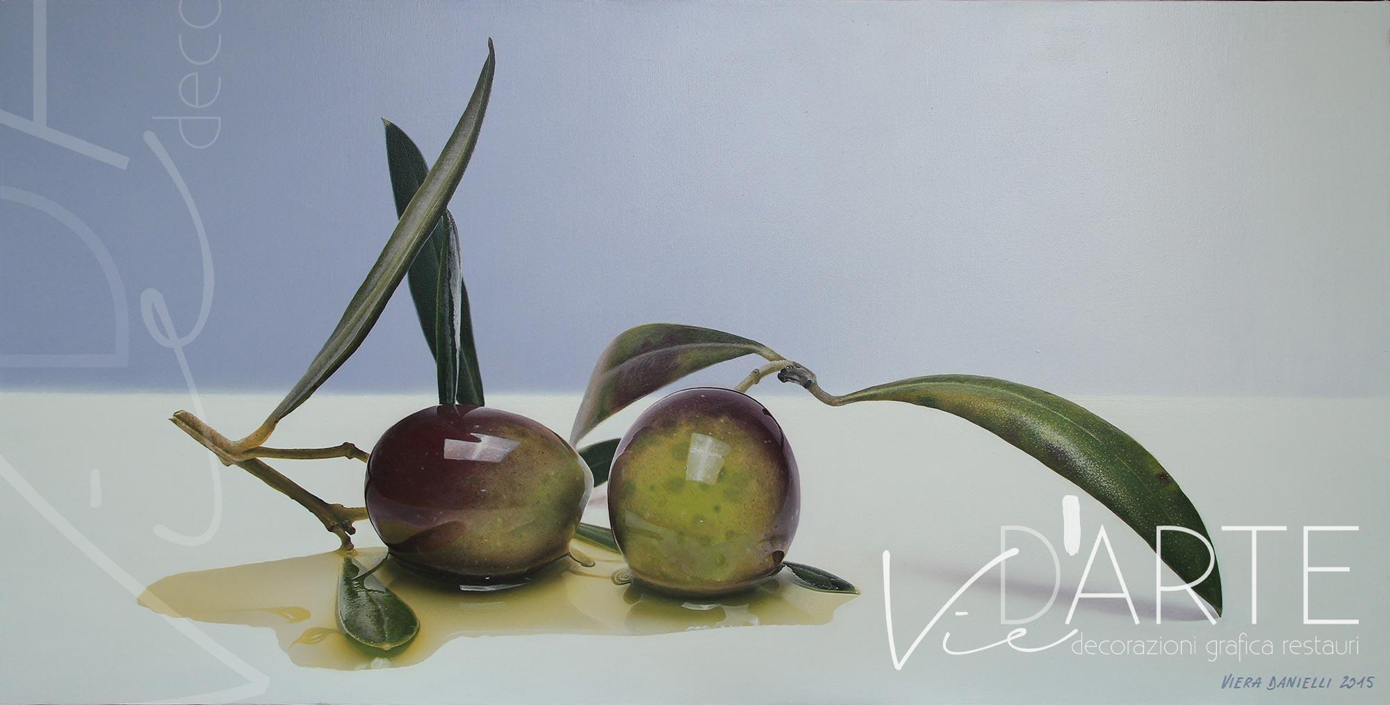 Quadro moderno, iperrealismo, olio su tela. Orvieto