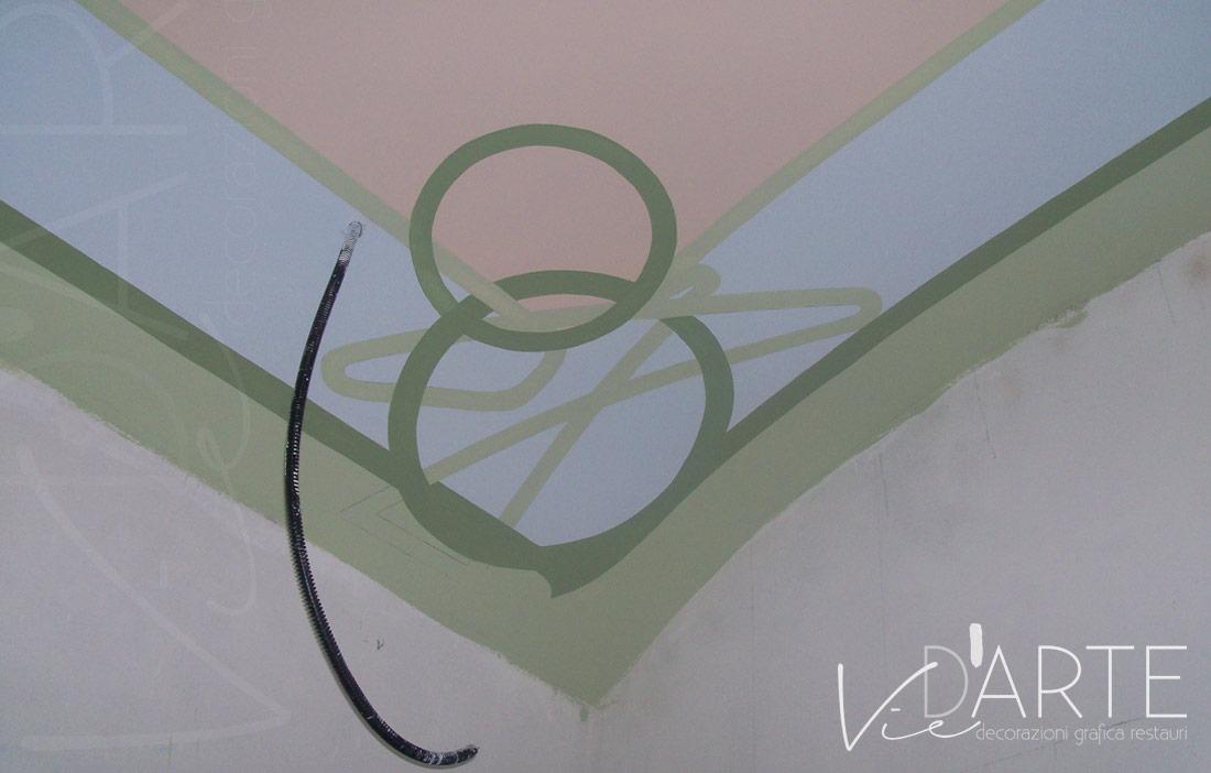 Decorazioni Per Soffitti A Volta : Decorazione soffitto stile liberty u viera danielli